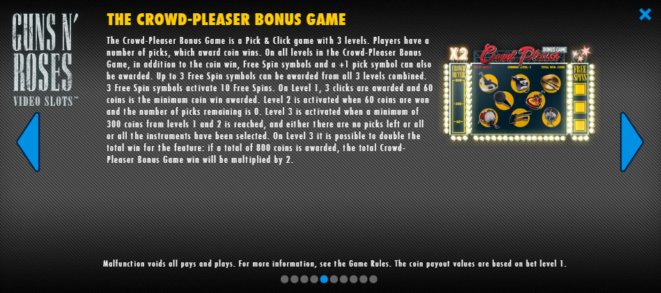 Guns And Roses The Crowd-Pleaser Bonus Game
