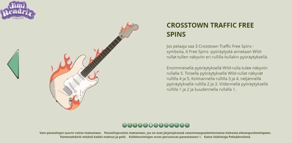 Jimi Hendrix Crosstown Traffic Free Spins