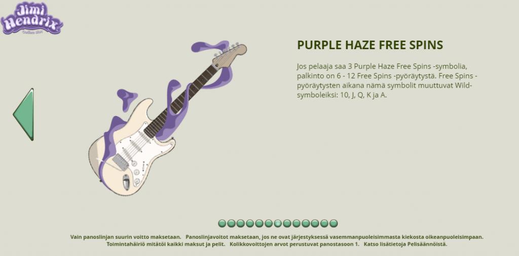 Jimi Hendrix Purple Haze Free Spins