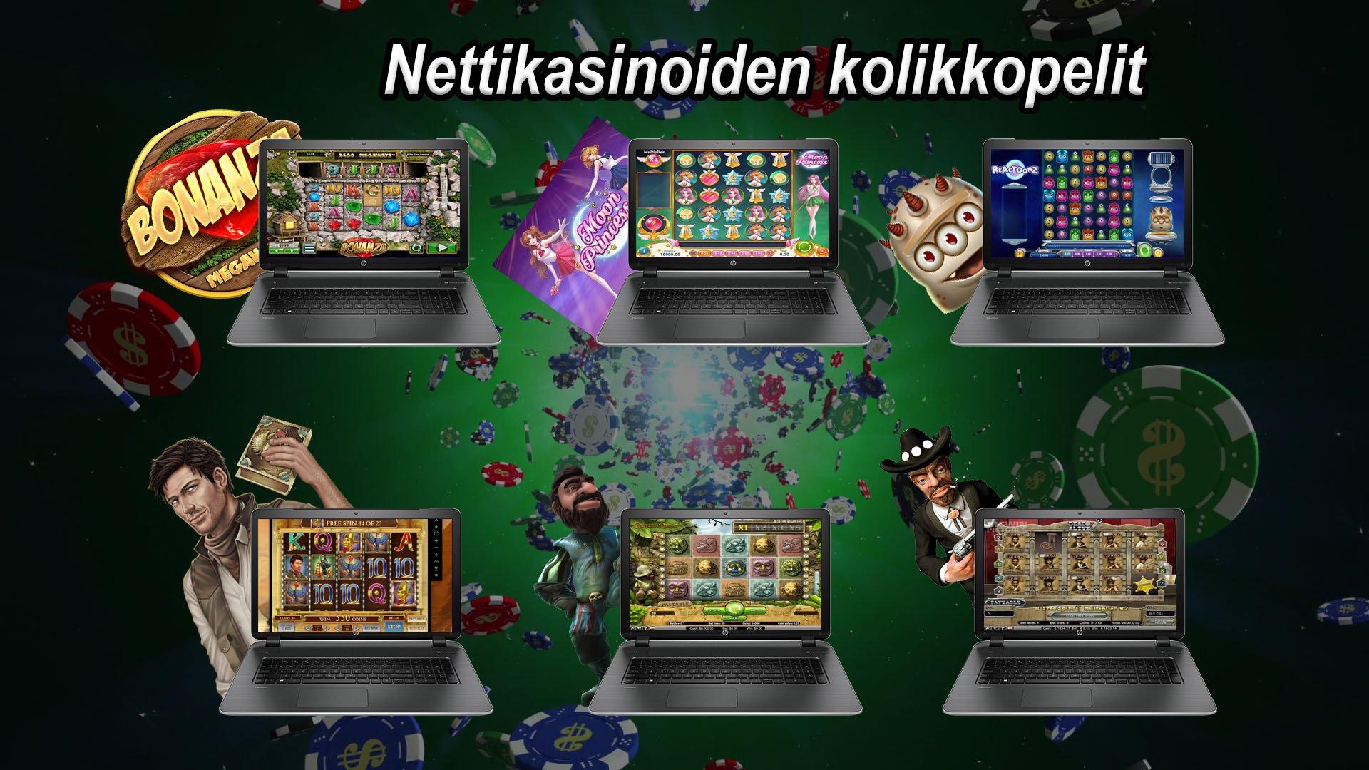 Nettikasinoiden kolikkopelit