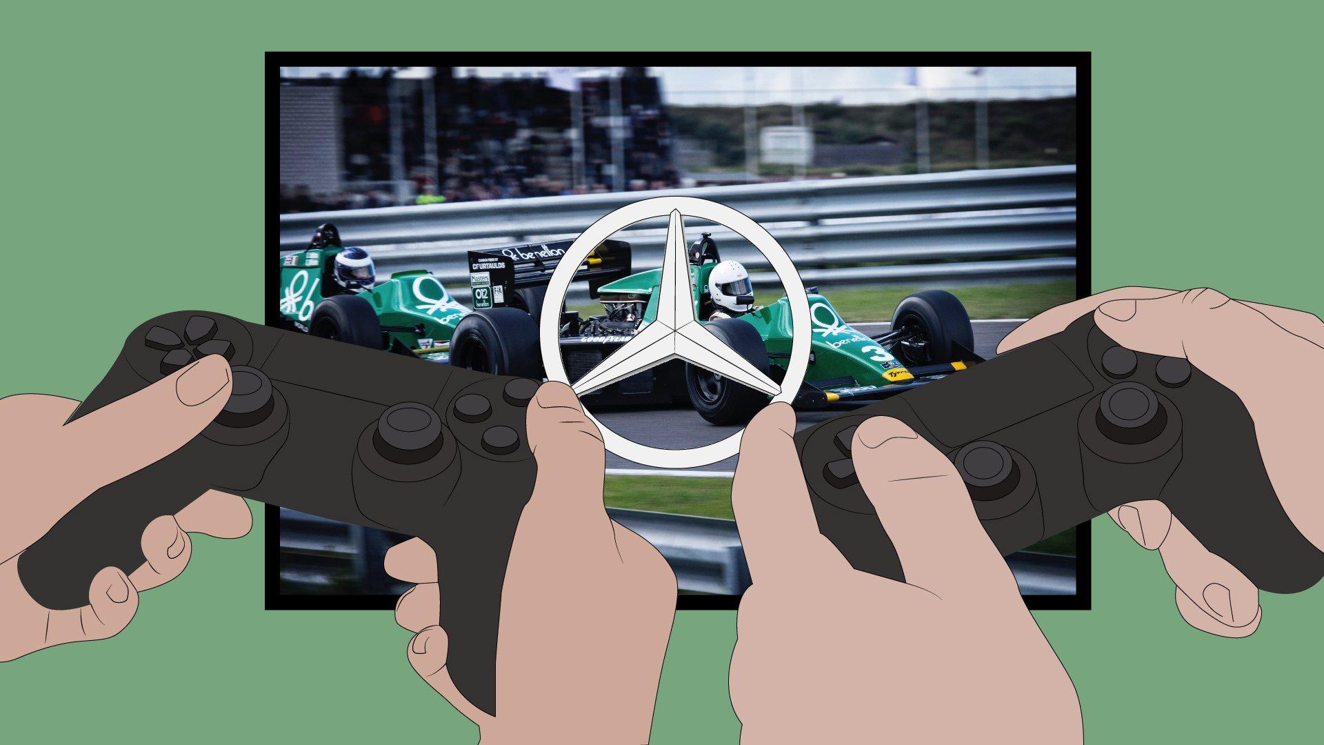 Mercedes dominoi F1 New Balance Esports Pro sarjaa
