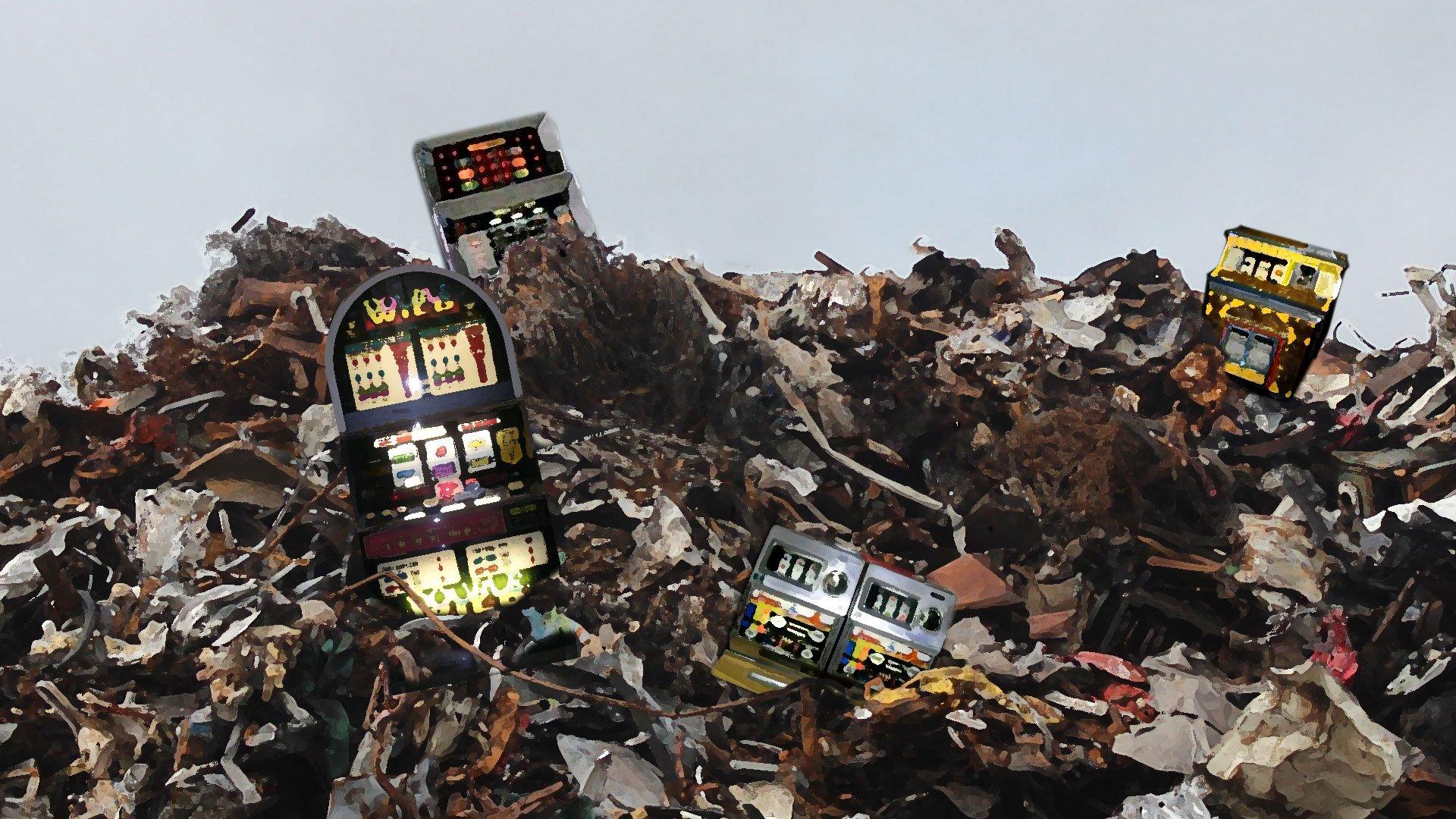 Laittomia peliautomaatteja tuhottiin