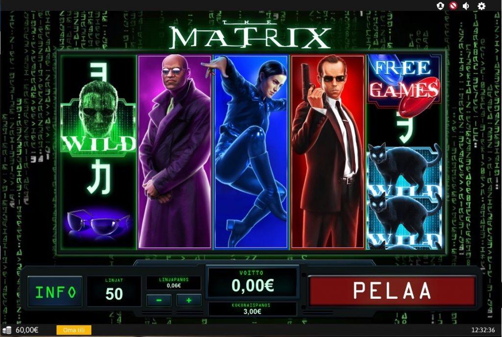 matrix nettikasino peli