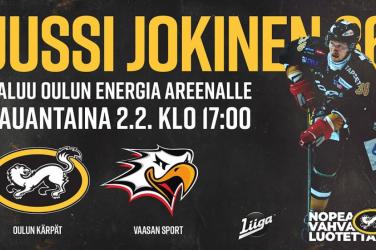 Jussi Jokinen palaa Liigaan