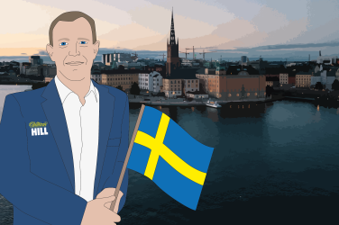 William Hillille Ruotsin lisenssi