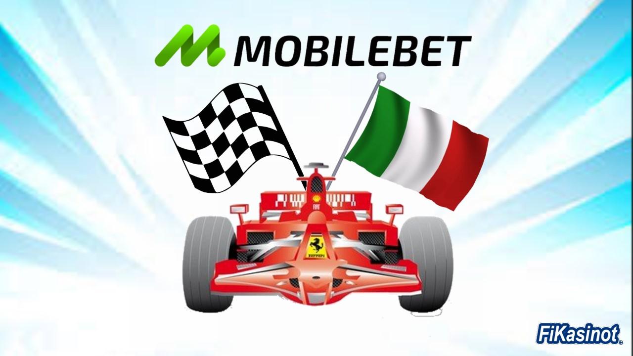 Mobilebetin kanssa F1-kilpailuun