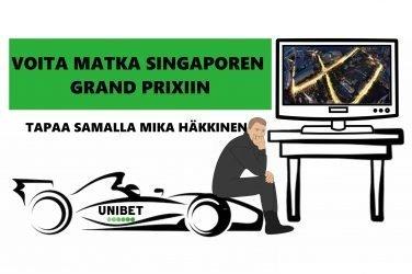 Voita matka Singaporen Grand Prixiin