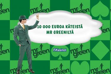 Mr Green jakaa 10 000 euroa