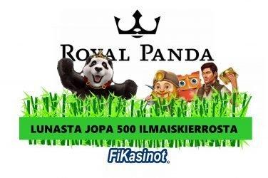 Royal Pandalla jaossa jopa 500 ilmaiskierrosta
