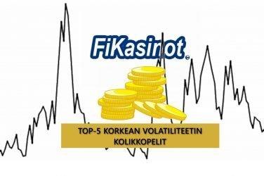 TOP-5 korkean volatiliteetin pelit
