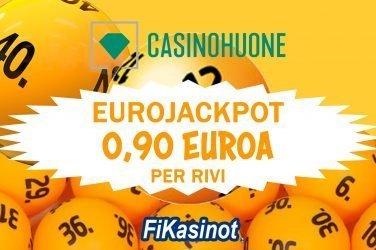 Eurojackpot 0,90 euroa per rivi