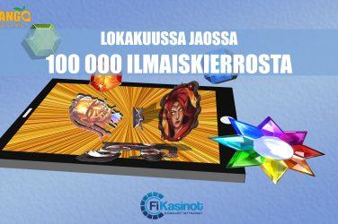 Lokakuussa jopa 100 000 ilmaiskierrosta Mango Casinolta