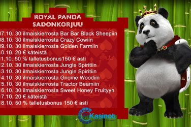 Royal Panda lokakuun kampanjat