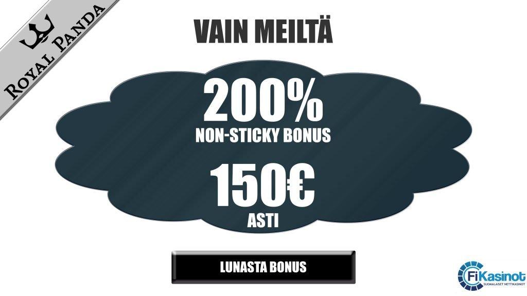 Royal Panda Casino 200% bonus