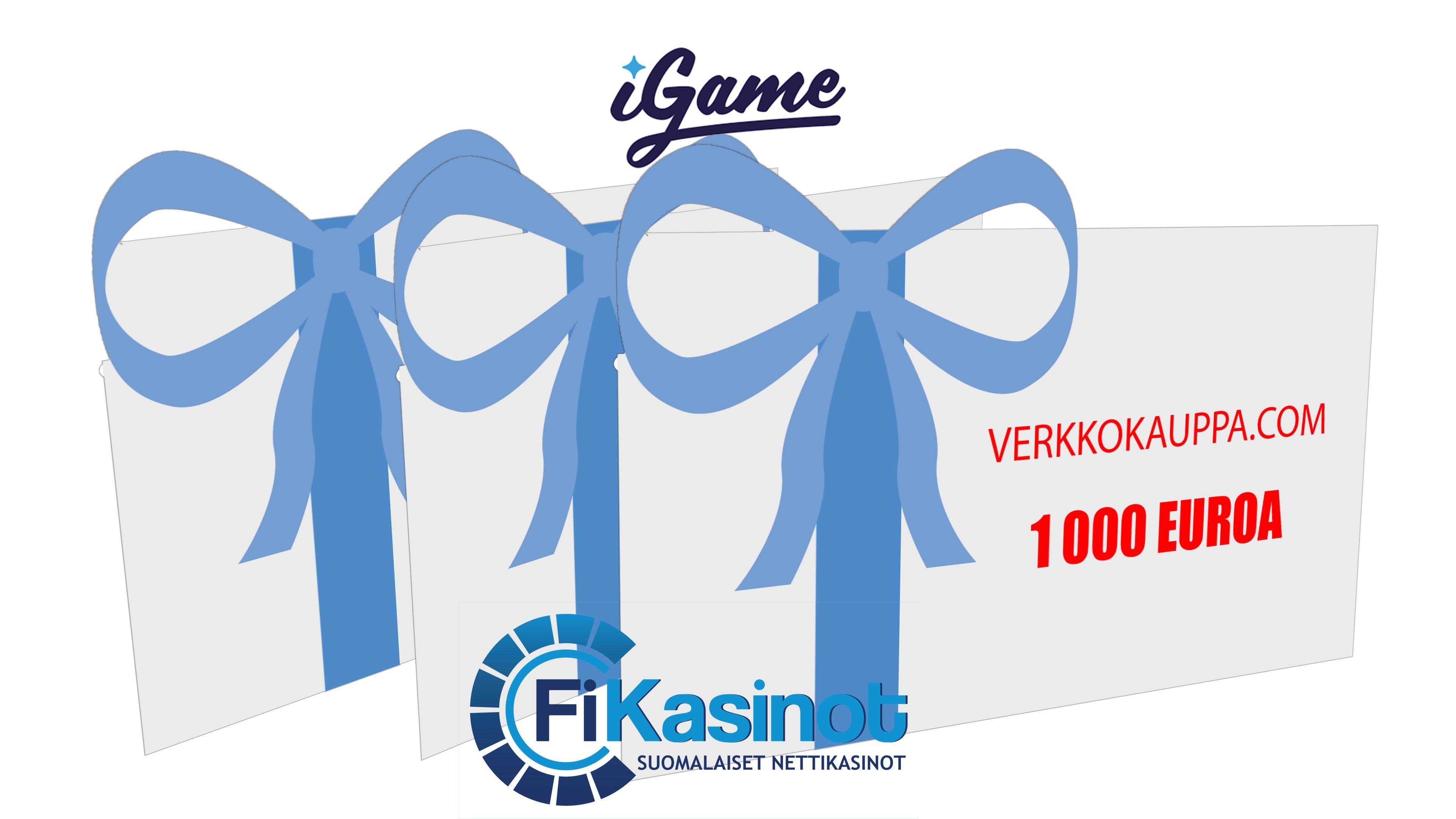 1 000 euron lahjakortti Verkkokauppaan