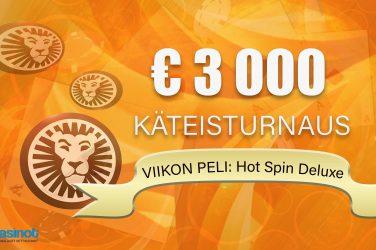 3000 euroa viikon pelistä LeoVegasilta