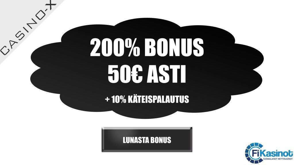 Casino-X 200% bonus