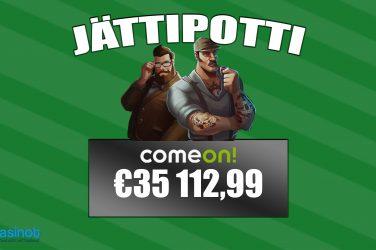 ComeOnilta 35 000 euroa suomalaiselle