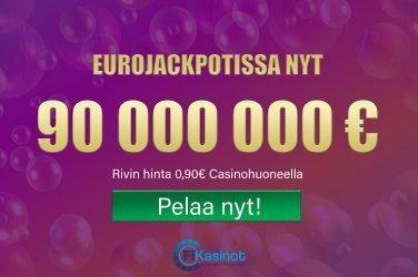Eurojackpotissa tällä viikolla 90 miljoonaa
