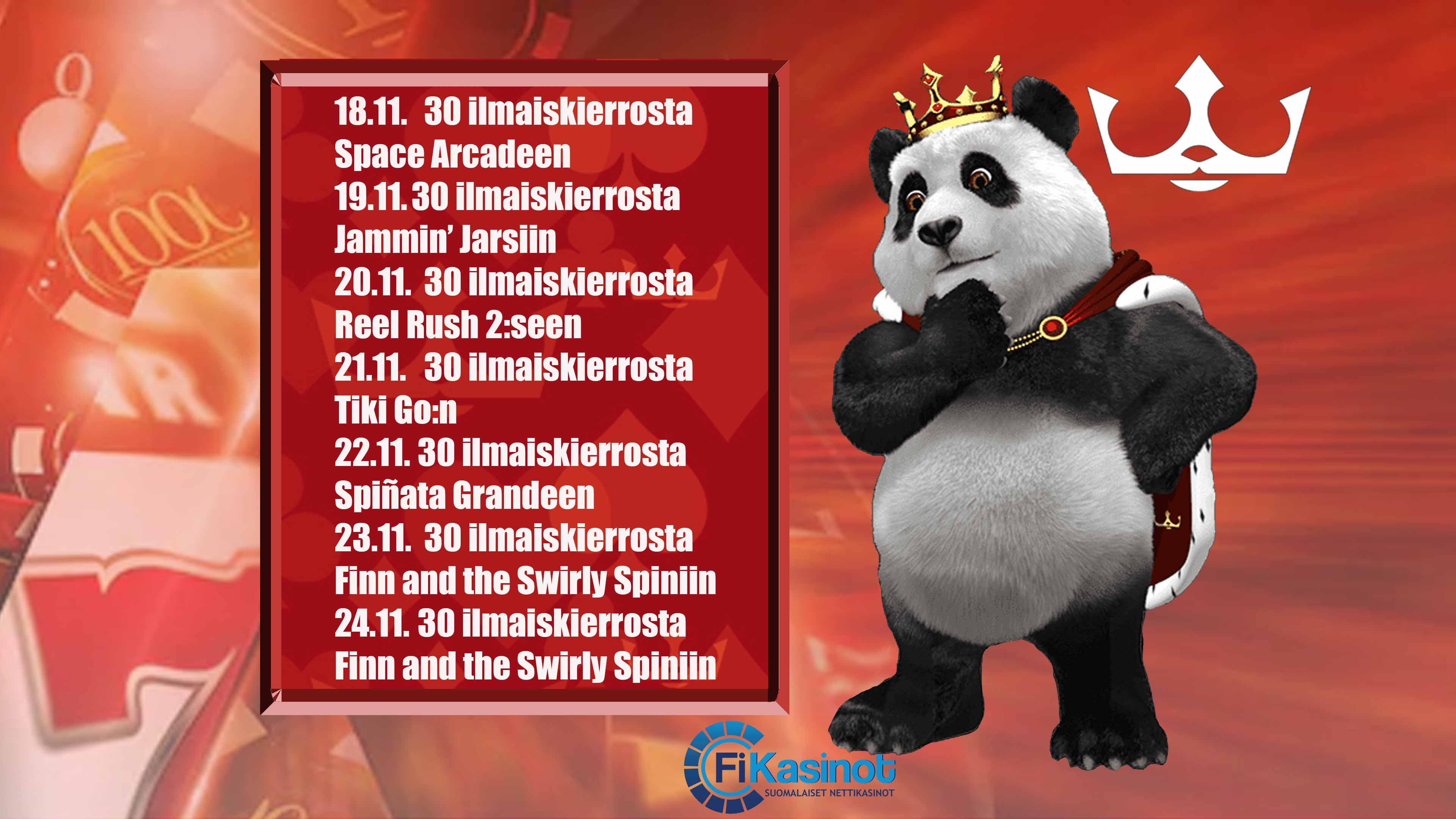 Royal Pandan ilmaiskierrosjuhla 18.11