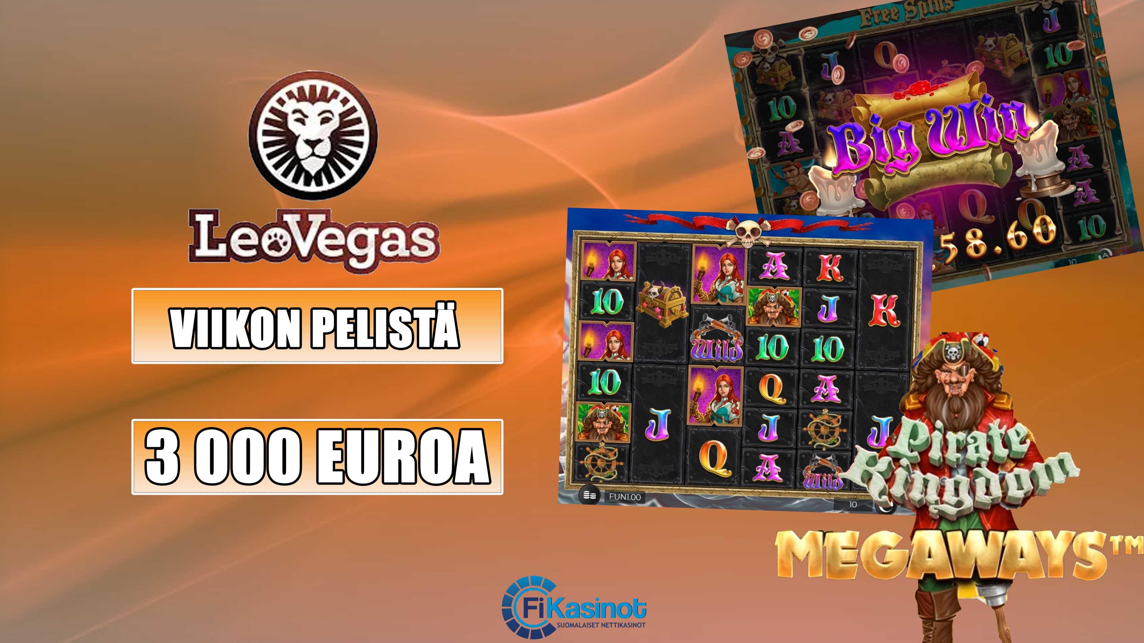 Viikon pelistä käteisvoittoja LeoVegasilta 3 000 euroa