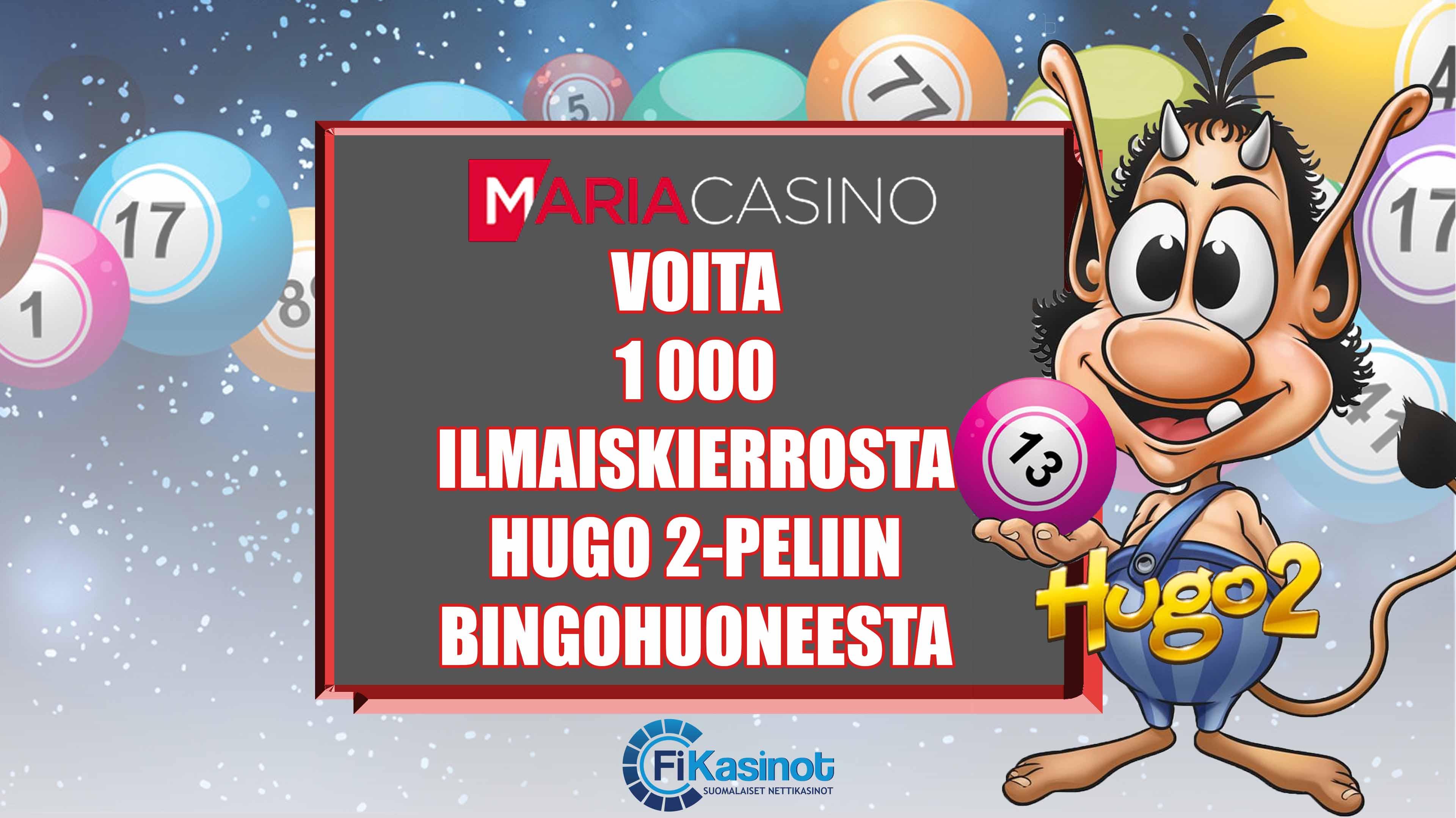 Voita 1 000 ilmaiskierrosta Maria Casinolta