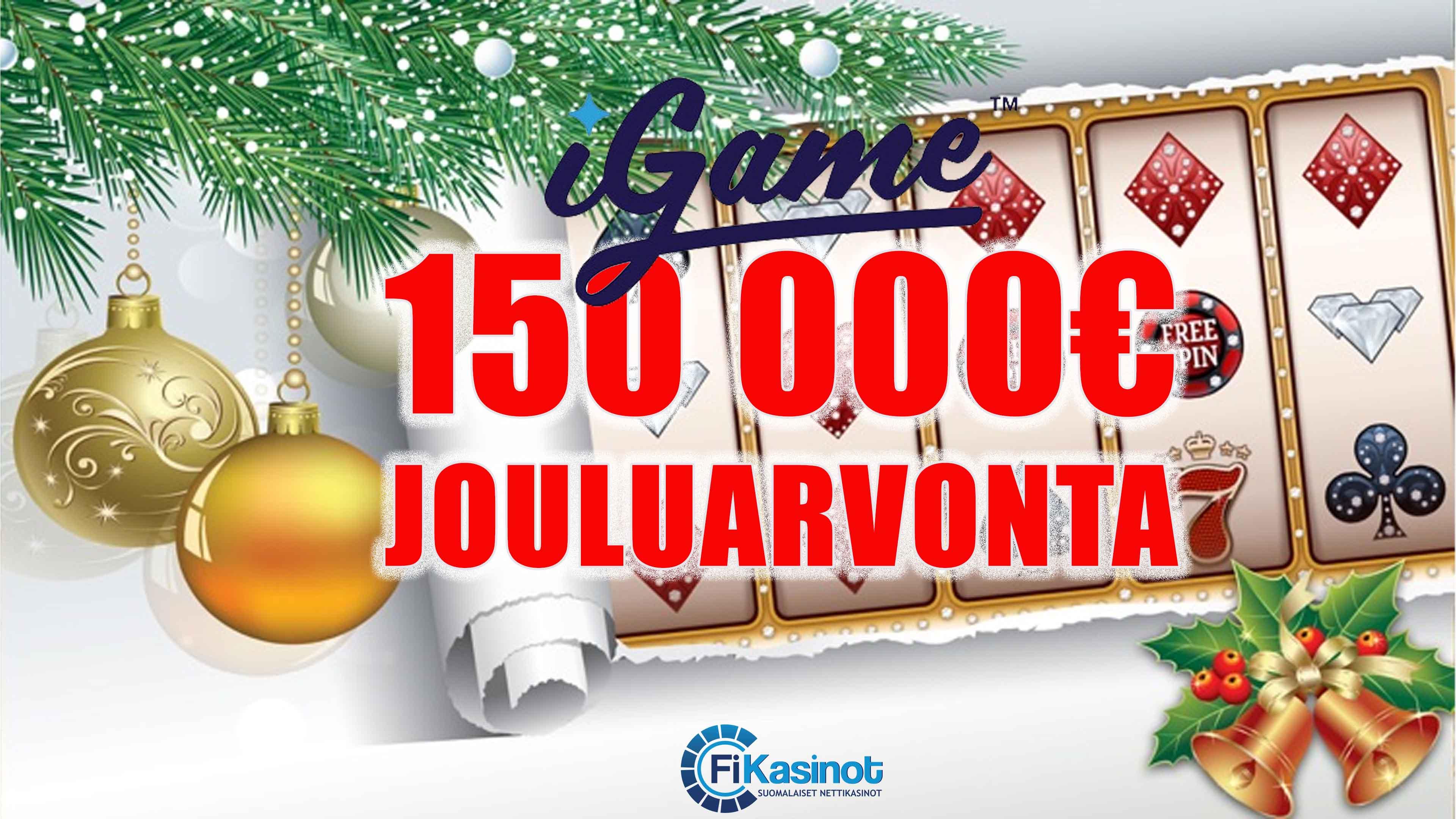 150 000 eurolla käteispalkintoja iGamelta joulukuussa