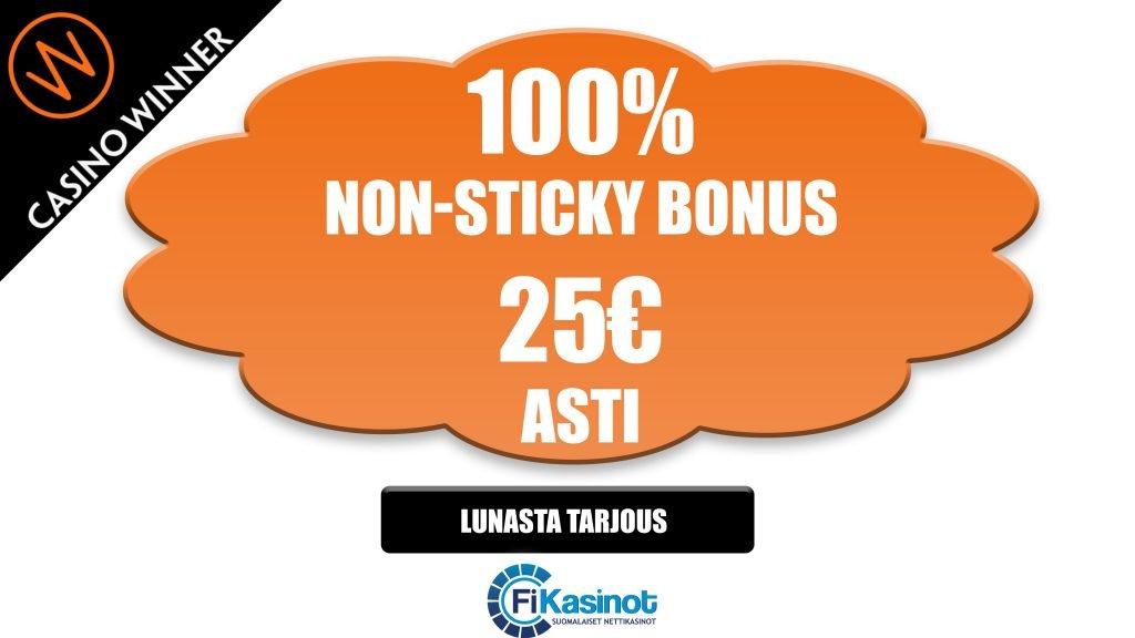 Casino Winner non sticky talletusbonus