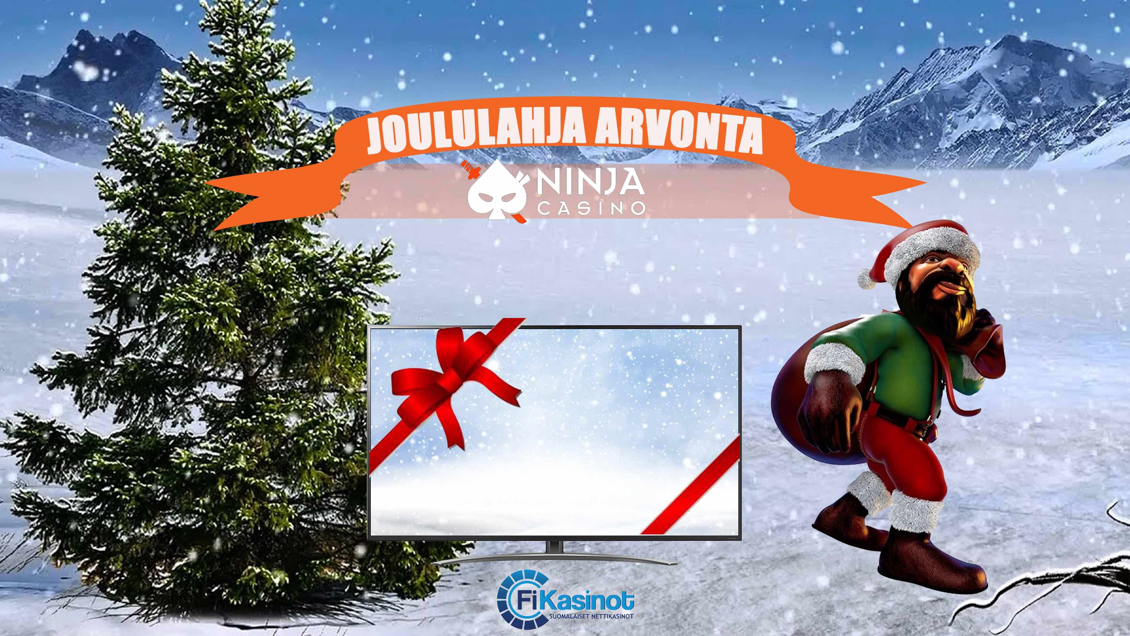 Joululahja arvonta Ninja Casinolla 12.12 asti