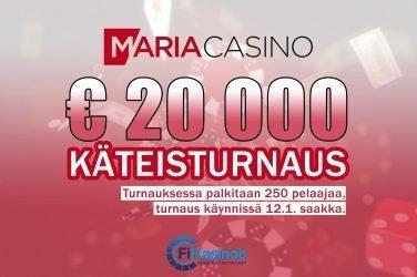 20 000 euron käteisturnaus Maria Casinolla