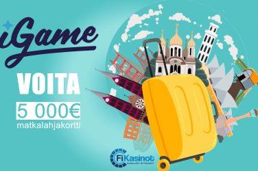 5 000 euron matkalahjakortti iGamelta