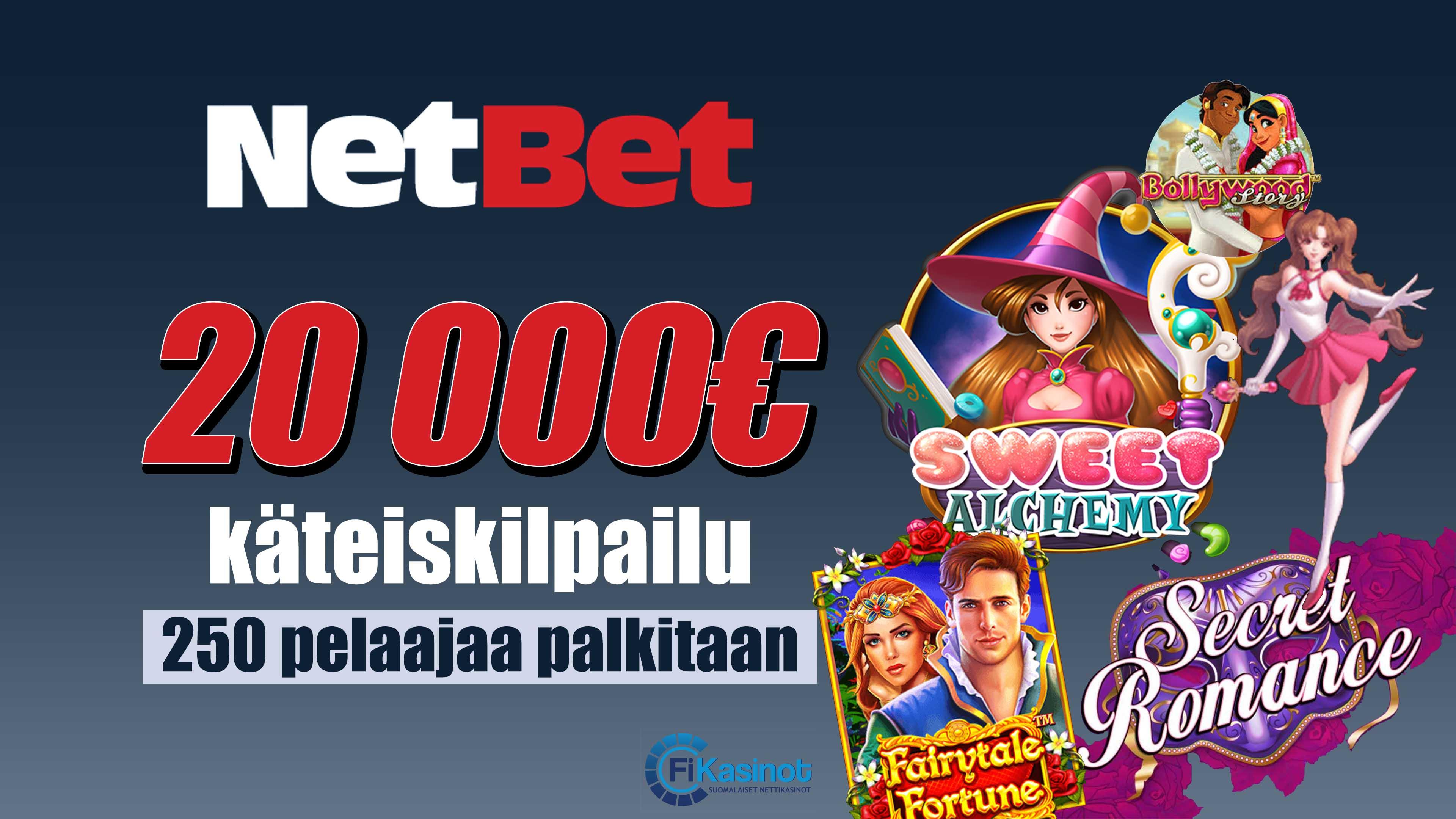 NetBetiltä 20 000 euroa käteistä