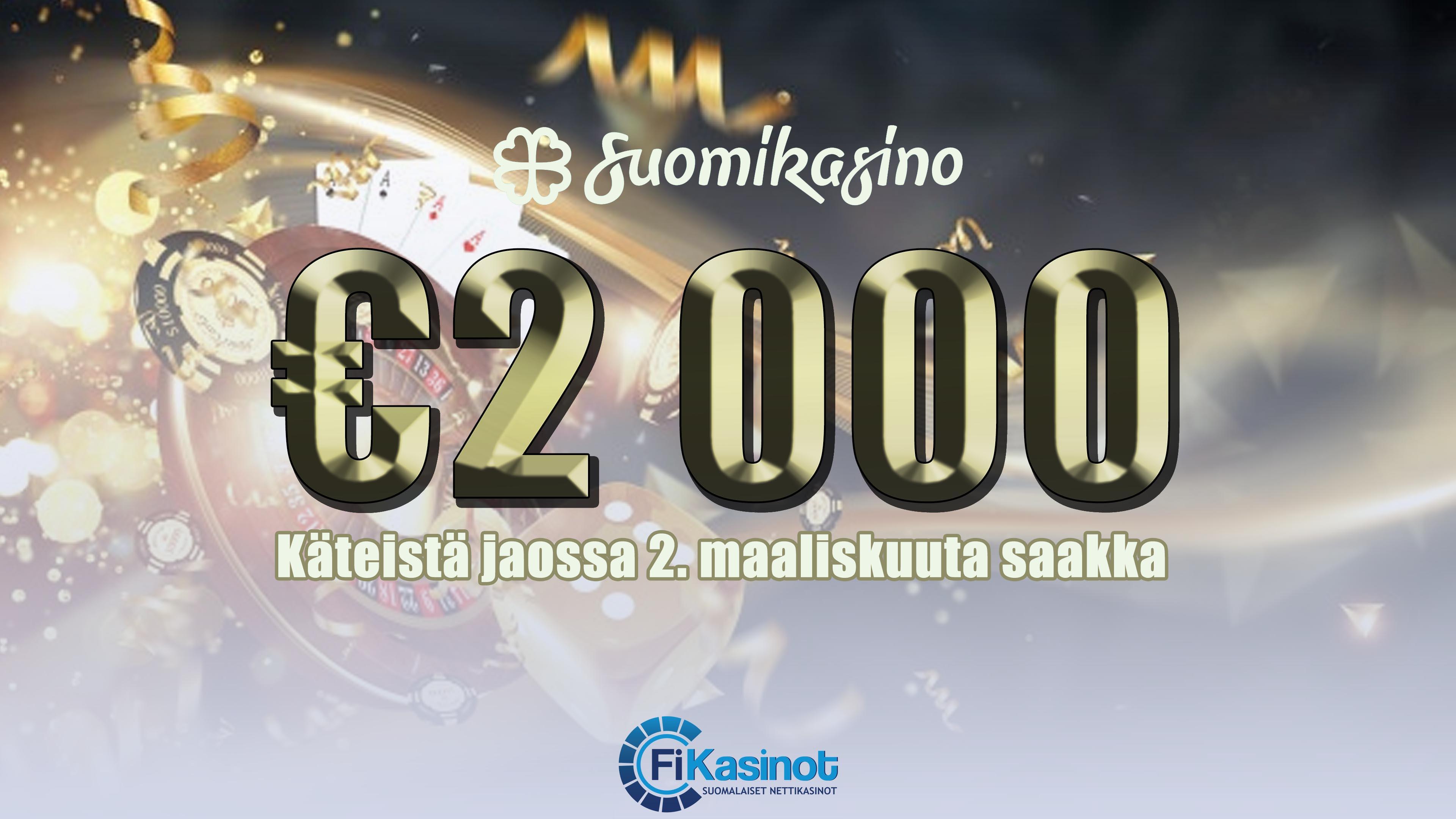 Suomikasinon 2 000 euron käteiskisa