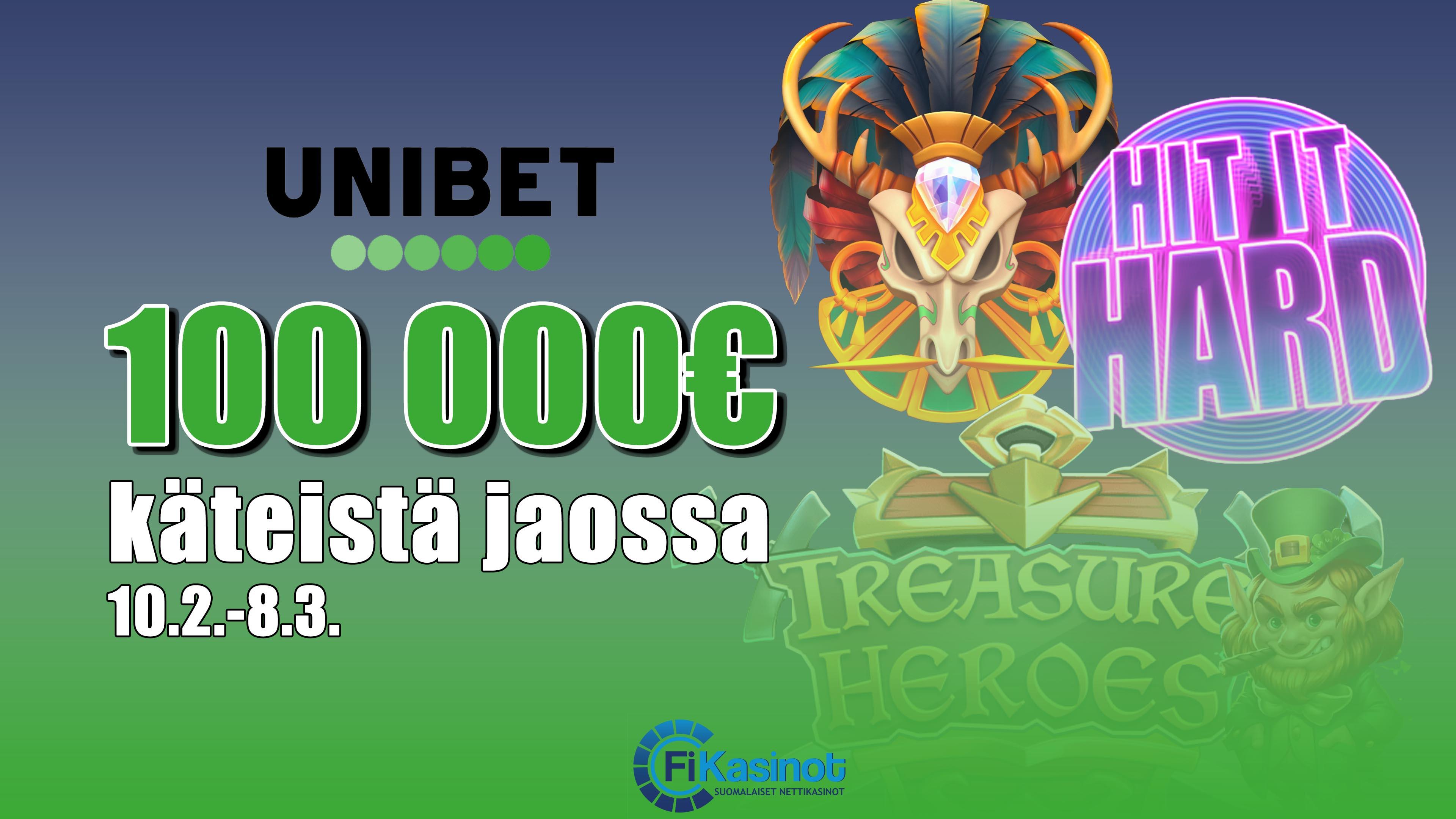 Unibetin 100 000 euron turnaukset