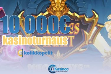10 000 euron turnaus kolikkopeleillä