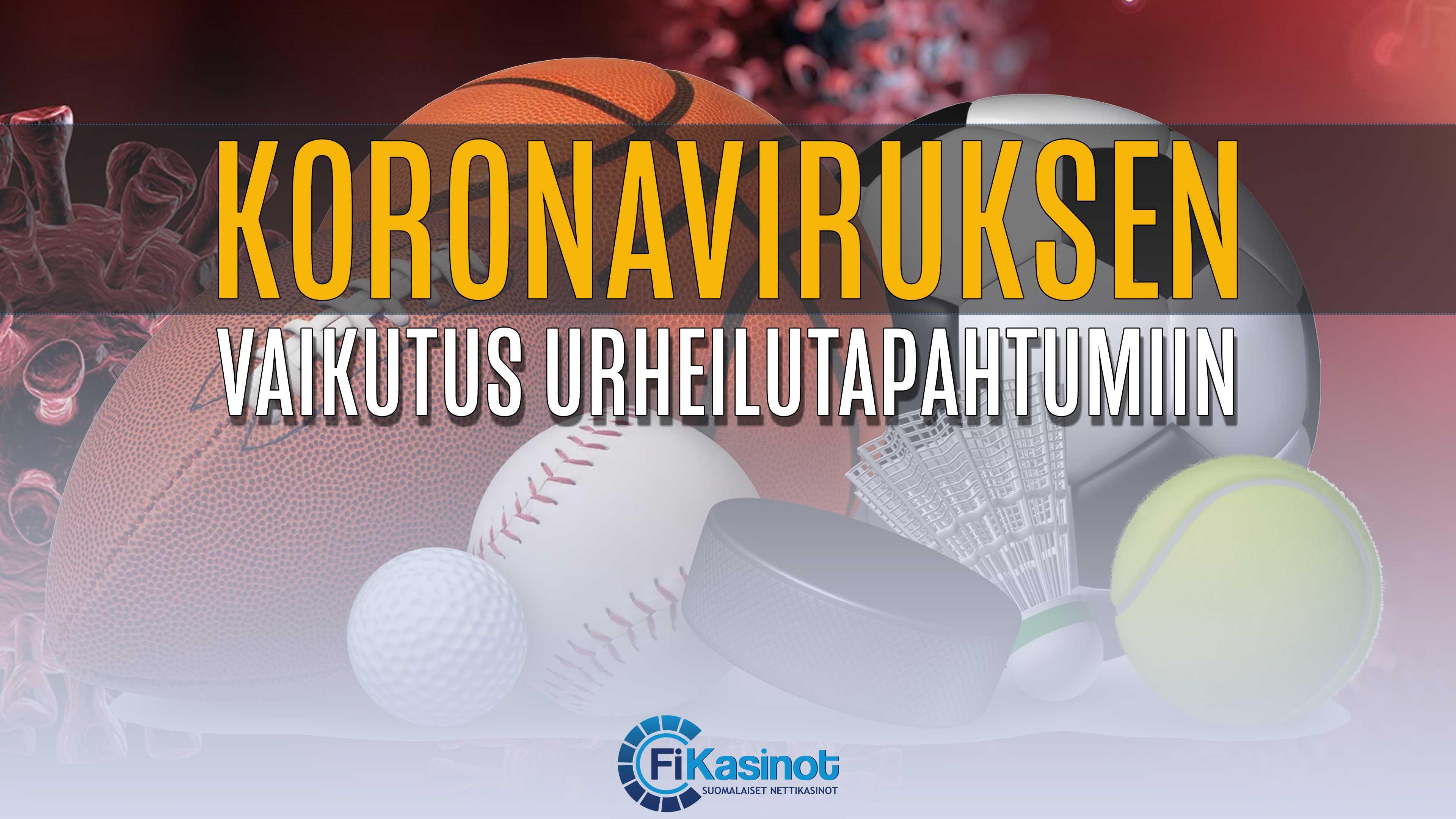 Koronavirus siirtää urheilutapahtumia