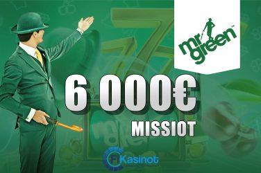 Mr Greenin 6 000 euron missiot