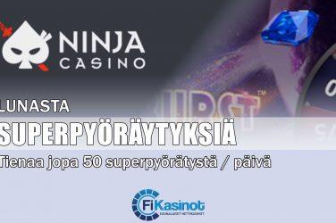Superpyöräytyksiä Ninja Casinolta