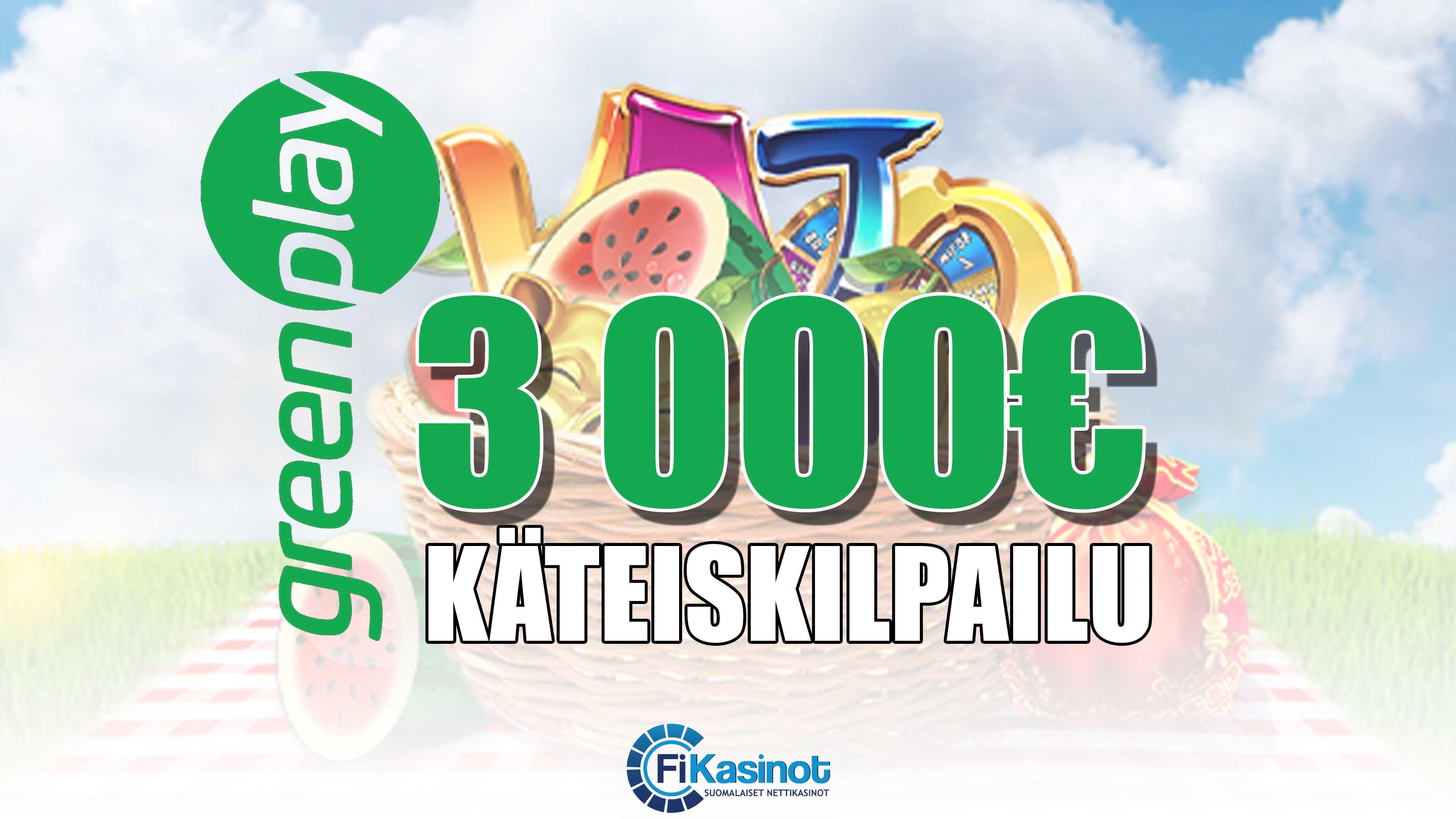 GreenPlayn 3 000 euron käteiskisa