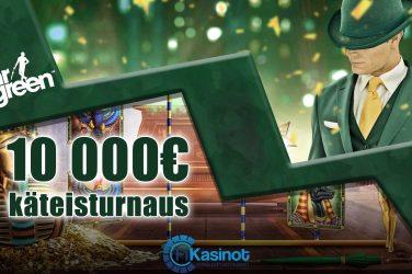 10 000 euroa käteistä Mr Greenillä