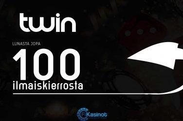 100 ilmaiskierrosta Twin Casinolta