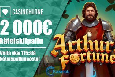 2 000 euroa käteistä Casinohuoneella