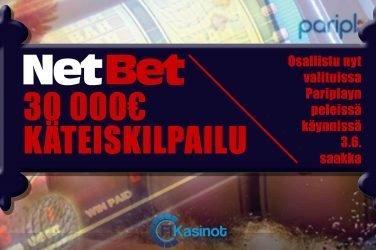 30 000 euroa käteistä NetBetillä