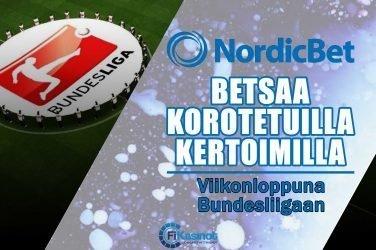 Korotetut kertoimet Bundesliigaan NordicBetillä
