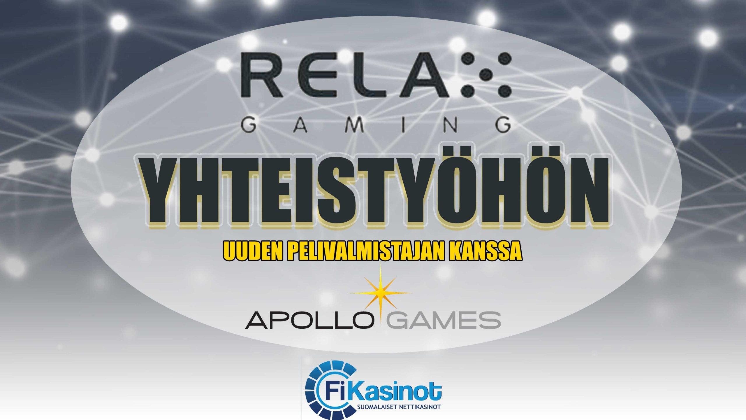 Relax Gamingin ja Apollo Gamesin yhteistyö