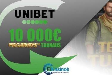 Unibetin 10 000 euron Megaways-turnaus