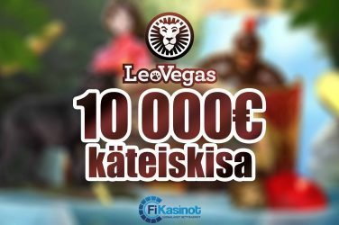 10 000 euroa käteistä LeoVegasilla