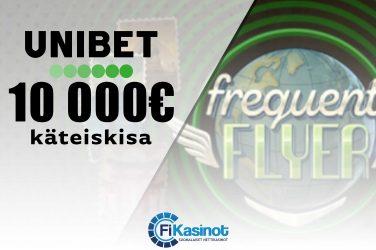 10 000 euroa käteistä Unibetillä