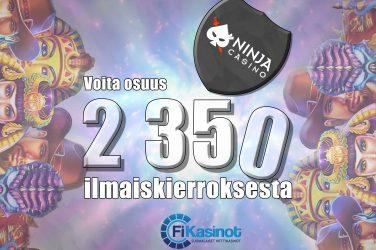 2 350 ilmaiskierrosta Ninja Casinolla