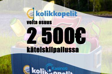 2 500 euroa käteistä Kolikkopeleillä